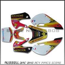 Sticker Decals Graphics Motocross Rockstar-Style Kawasaki Klx110 SUZUKI for KX65 KX65