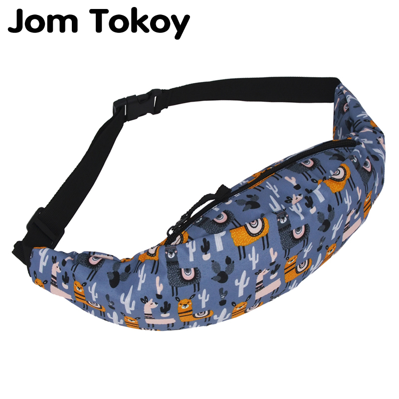 Jom Tokoy New Colorful Waist Bag For Men Fanny Packs Style Belt Bag Alpaca Women Waist Pack Travelling Mobile Phone Bags Yab953
