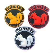 PVC Patch TOP SECRET SQUIRREL BLACK OP Morale Patch Tactical Emblem Badges Rubber Patches For Jackets Jeans Backpack 6.7*8CM джемпер top secret top secret mp002xm248y7