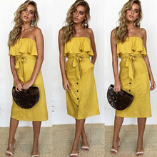 f3d0d0657cf45 Sexy Off Shoulder Tube Dress Summer Women Basic Bodycon Sundress Strapless  Stretchy Bandage Robe Femme Evening