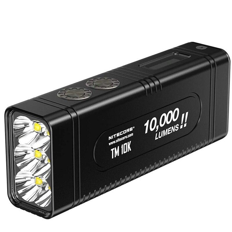 NITECORE TM10K Petit Monstre Rechargeable lampe de Poche 6 CREE XHP35 HD max 10,000 lumen LED écran jeter 288 mètre construit dans batterie
