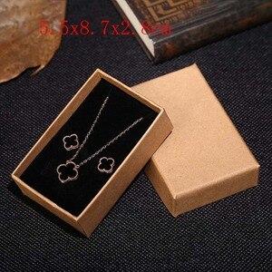 Image 3 - 2019 새로운 20 개/몫 브라운 크래프트 종이 보석 상자 선물 패키지 상자 주최자 매력 반지 시계 귀걸이 보석 상자 도매