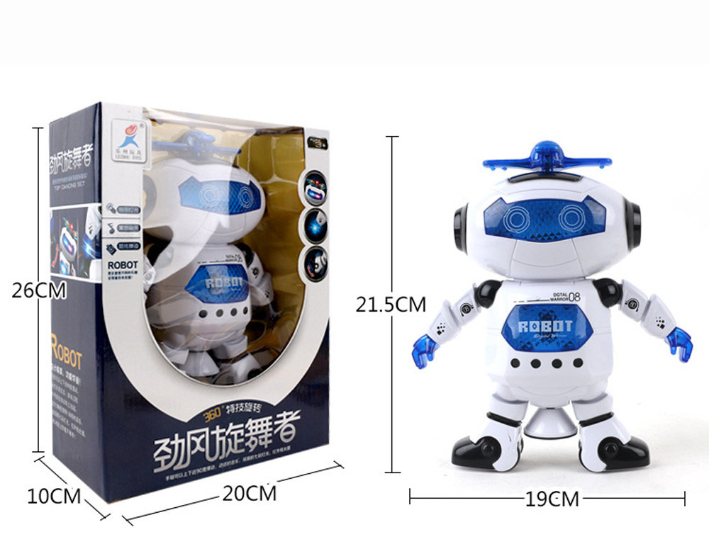Electric Space Intelligent Robot Multicolor Shine Cool Dancing Music Robot Toy M