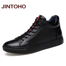 JINTOHO 2020 Casual Leather Boots Genuine Leather Men Shoes Fashion Male Shoes Winter Ankle Boots Male Boots Winter Men Shoes