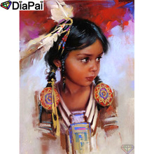 DIAPAI 100% Full Square/Round Drill 5D DIY Diamond Painting Girl oil painting Embroidery Cross Stitch 3D Decor A19506