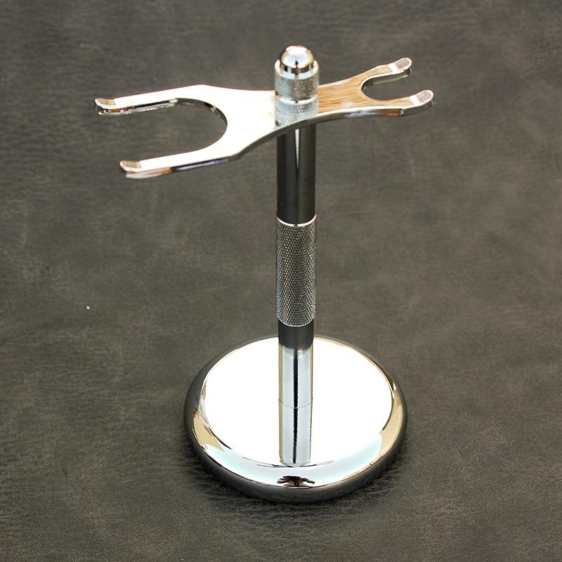Men Razor Holder Stainless Shaving Brush Stand Safety Razor Razor Holder 15.2cm long size Razor & Brush not including