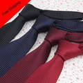 Cheap Neckties Plaids Small Dot  Black Navy Red Burgundy Corbata Men 7cm Woven Tie Slim For Men Dresses Cheap Neckties Plaids