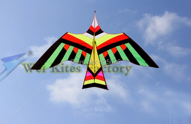 Высокое качество, 3 м большая птица кайт легко летать выше с ручкой линии ручки птица крыльями птиц самолетов на каждый день wei