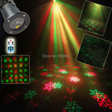 New R&G Remote Outdoor Waterproof Xmas Snow Laser projector 2 Christmas Patterns Landscape DJ Club Party Tree Garden Light B197