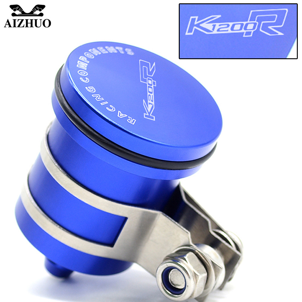 With K1200R R1200GS LOGO FOR BMW K1200R R1200GS 2004-2012 Motorcycle Oil Cup Brake Fluid Reservoir Clutch Tank Oil Fluid Cup