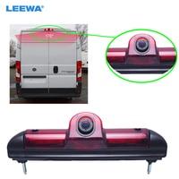 LEEWA Car LED Brake Light IR Rear View Reversing/Parking Camera For Fait Ducato/Peugeot Boxer/Citroen Jumper #CA5369