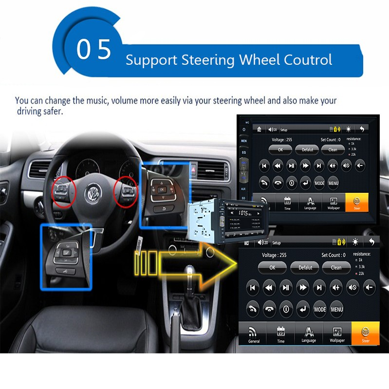 100% New universal Car Radio Double 2 din Car no DVD Player with GPS In dash Car Stereo Head Unit video+Free rear camera 9 inch car headrest dvd player pillow universal digital screen zipper car monitor usb fm tv game ir remote free two headphones