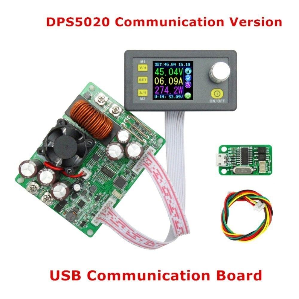 DPS5020 постоянной Напряжение ток Шаг вниз Связь цифровой Питание Buck Напряжение конвертер ЖК-дисплей вольтметр 50 В 20A