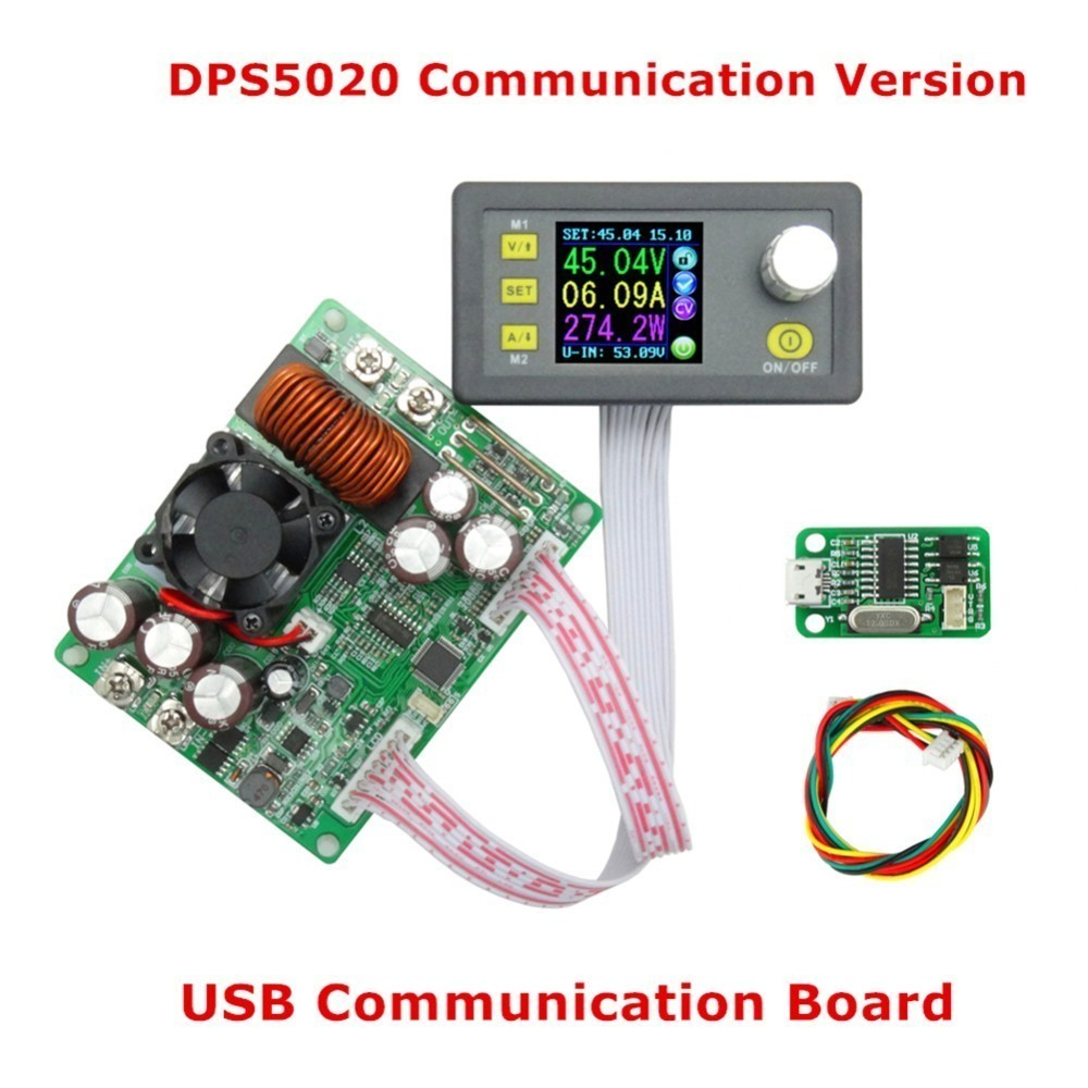 DPS5020 Constant Voltage Current Step-Down Communication Digital Power Supply Buck Voltage Converter LCD Voltmeter 50V 20A dps5020 constant voltage current step down communication digital power supply buck voltage converter lcd voltmeter 50v 20a