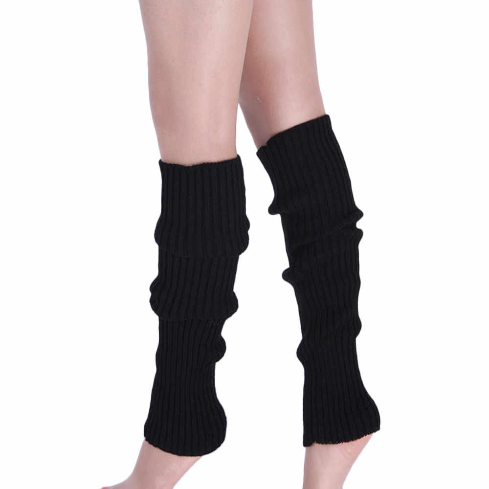 Sıcak Kadın bacak ısıtıcıları Düz Renk Örgü Kış Bacak Isıtıcıları Diz Yüksek Legging Boot beenwarmers çizme çekin femme hiver # TW