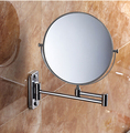 Bathroom Mirror chrome Wall Mounted 8 inch Brass 3X/1X Magnifying Mirror Folding Makeup Mirror Cosmetic Mirror Lady Gift