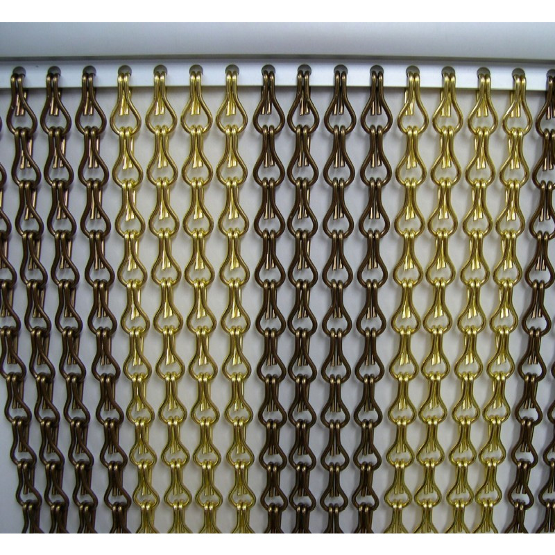 Aluminum Link Chain Curtain room divider fly screen Insects proof Anodized Metal Decorative for living room bedroom door Window