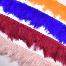 wholesale natural fluffy Marabou feathers trims for clothing plume 10-15cm feather crafts Sewing DIY dress Party decoration