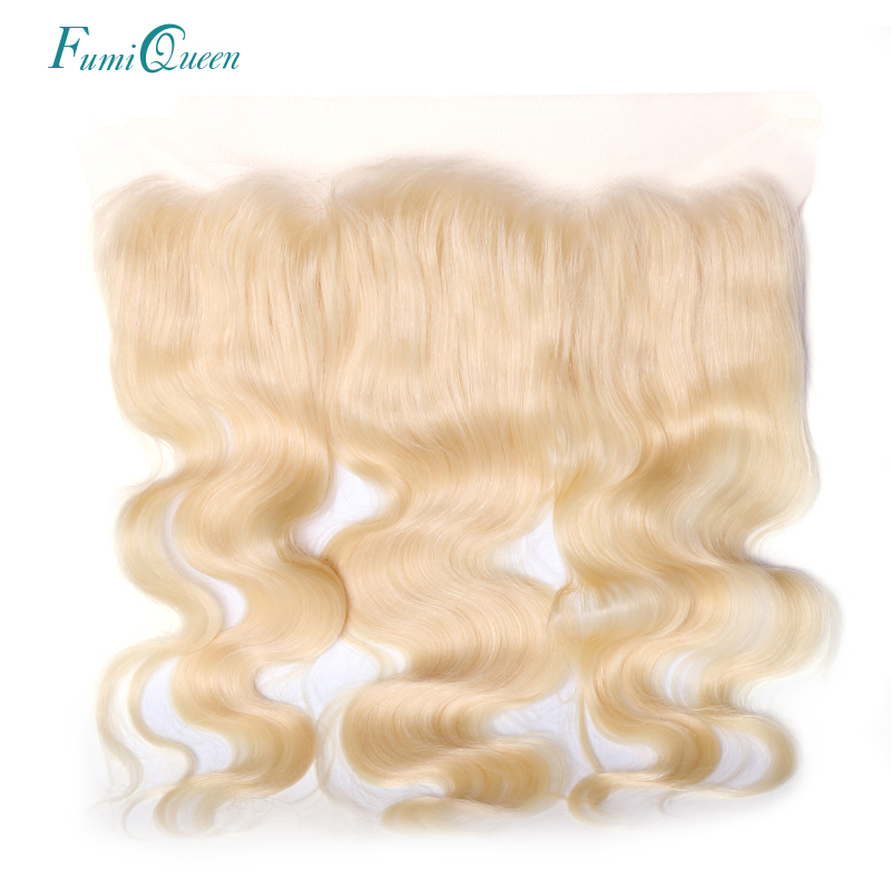 Ali Fumi Queen Hair Products Remy Hair Body Wave Lace Frontal 613 Color 13x4 Swiss Lace Brazilian Human Hair Lace Closure