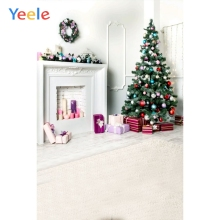 Yeele White Photographic Backgrounds Interior Fireplace Baby Portrait Christmas Photocall Photography Backdrops for photo studio