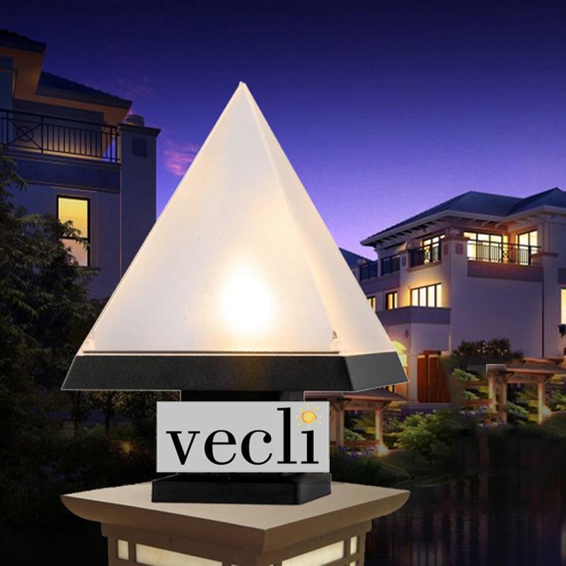 Us 10 53 42 Off Pyramid Shade Outdoor Waterproof Pillar Lamp Villa Door Fence Residential Exterior Light Courtyard Column Lamps In Landscape