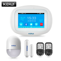 KERUI новейшая модель K5 Беспроводной Wi Fi GSM Главная охранной сигнализации Системы Наборы 4,3 дюйма TFT Цвет Сенсорный экран приложение Controle