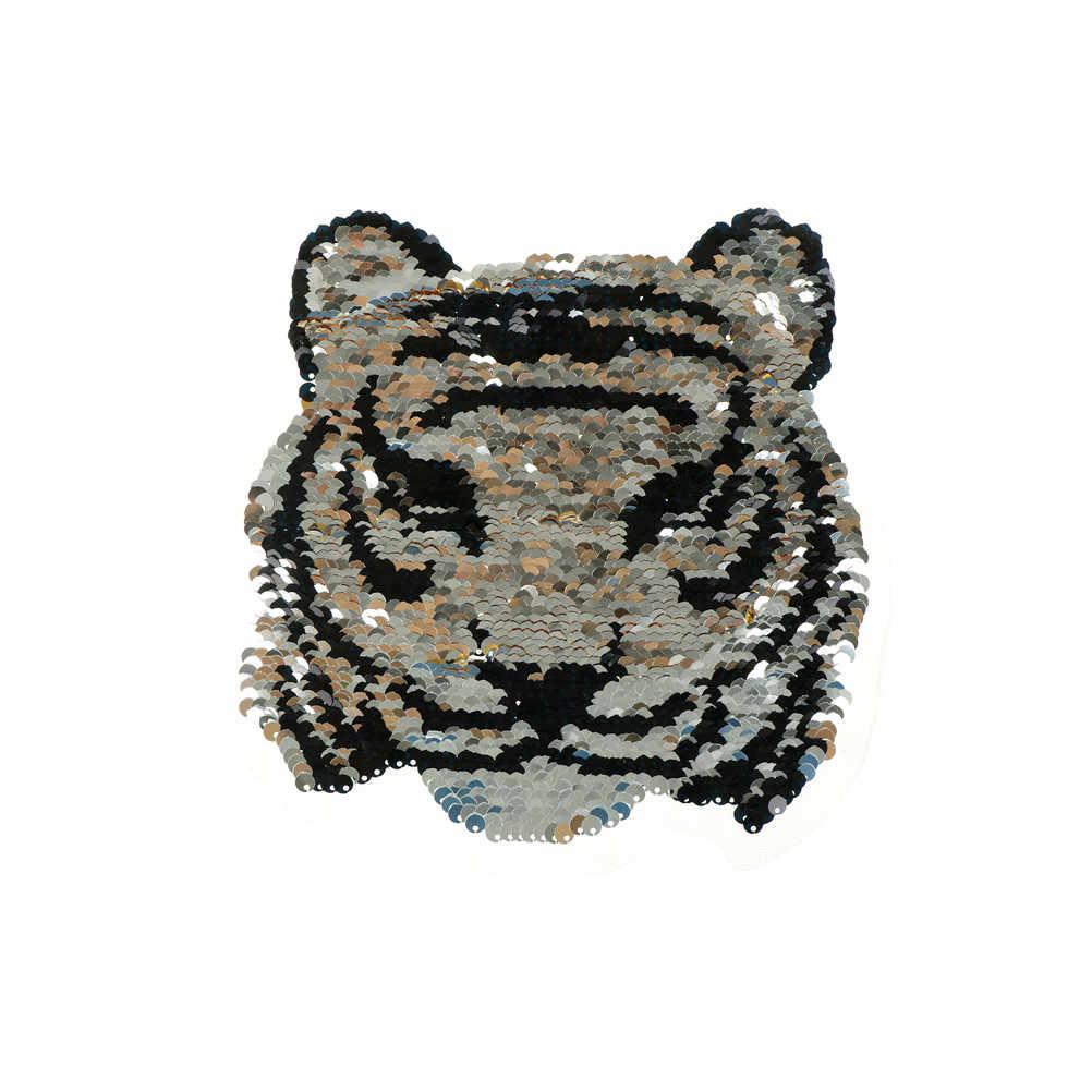 Tigre Leone Lupo Ricamo Ferro Sulla Toppe e Stemmi Per Abbigliamento Applique FAI DA TE Cappello Cappotto del Vestito Accessori di Stoffa Sticker di Animali