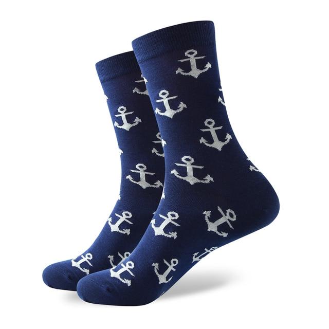Anchor Print Cotton Socks 1