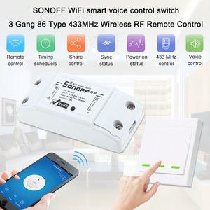 Image 5 - Умный радиочастотный Wi Fi переключатель RF 433 МГц 10 А/2200 Вт беспроводной переключатель 86 Тип Переключатель ВКЛ/ВЫКЛ 433 мгц радиочастотный Wi Fi пульт дистанционного управления Передатчик