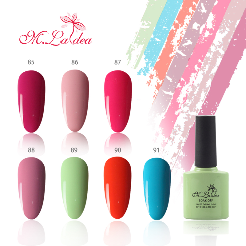 M Ladea Gel Nail Polish 140 Colors Hybrid Lacquer Manufactures 8 3ml Long Lasting Soak Off In From Beauty Health On