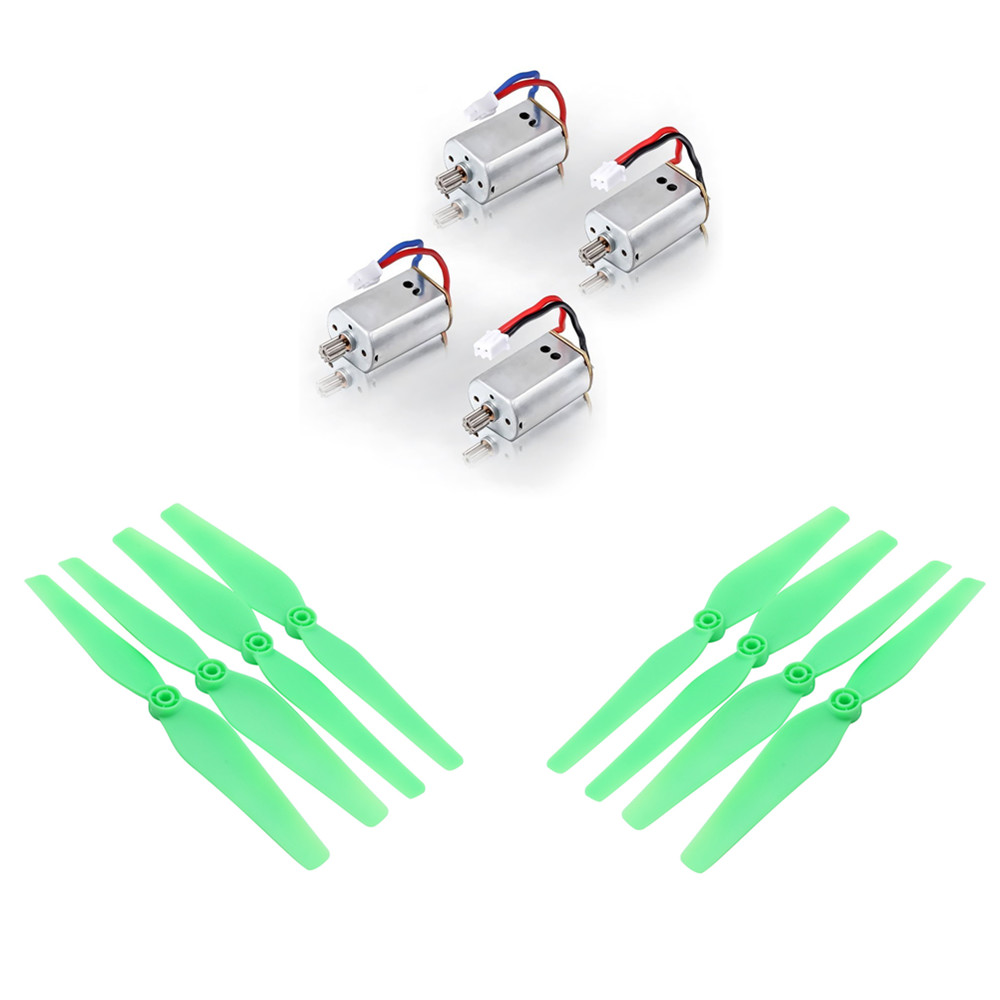 Luminous Propellers & Motors Spare Parts for Syma X8C X8W RC Quadcopter Drone Nice Match