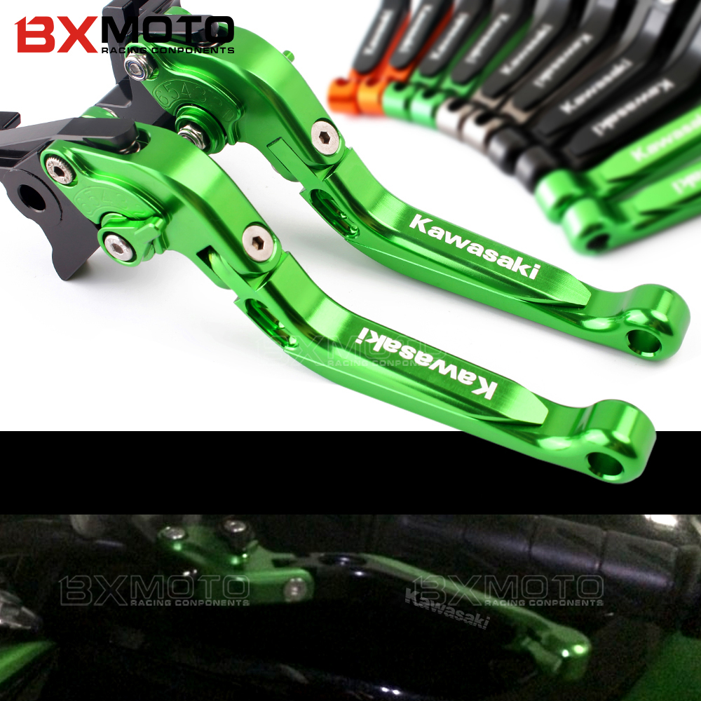 Motorcycle Foldable Adjustable Brake Clutch Lever For Kawasaki ZX7R ZX7RR ZX9 ZX1100 ZX-11 ZRX1100 1200 ZZR1200 ZG1000 zx 7r 7rr billet alu folding adjustable brake clutch levers for motoguzzi griso 850 breva 1100 norge 1200 06 2013 07 08 1200 sport stelvio