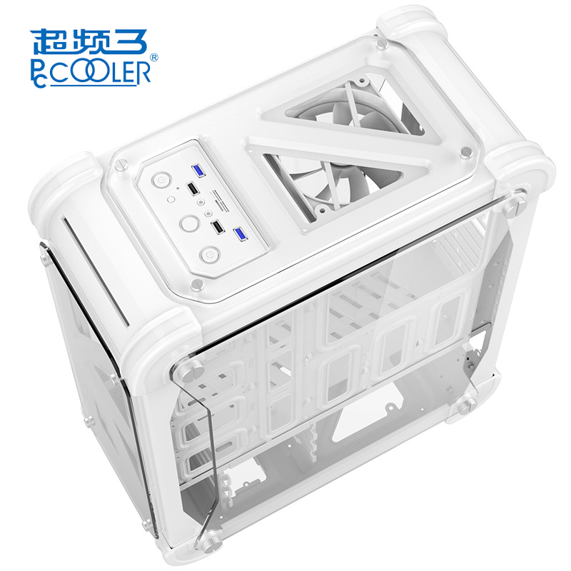PCCOOLER Blizzard Computer Case Chassis for Desktop With Acrylic Transparent Colorful Box ATX Computer Box Simple Gaming Tower transparent acrylic case shell enclosure computer box for arduino uno r3 ev