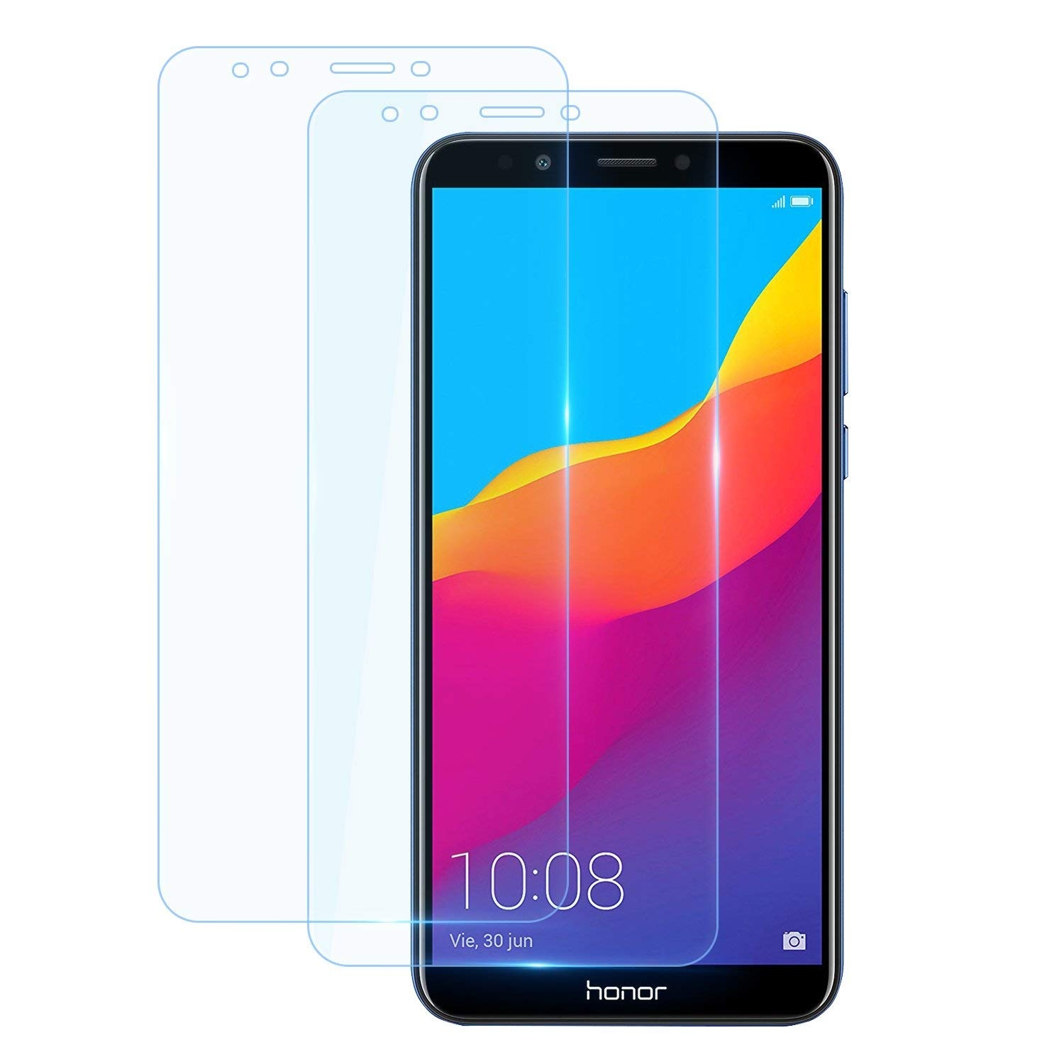 2 5D 9H Tempered Glass For Huawei Honor 7C Glass AUM L41 5 7inch Russian