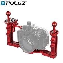 PULUZ double poignées stabilisateur de plateau avec déclencheur déclencheur Extension adaptateur support de levier pour boîtiers de caméra sous marine