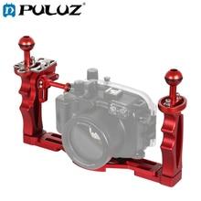 Puluz Dual Handles Lade Stabilizer Met Ontspanknop Trigger Extension Adapter Lever Mount Voor Onderwater Camera Behuizingen