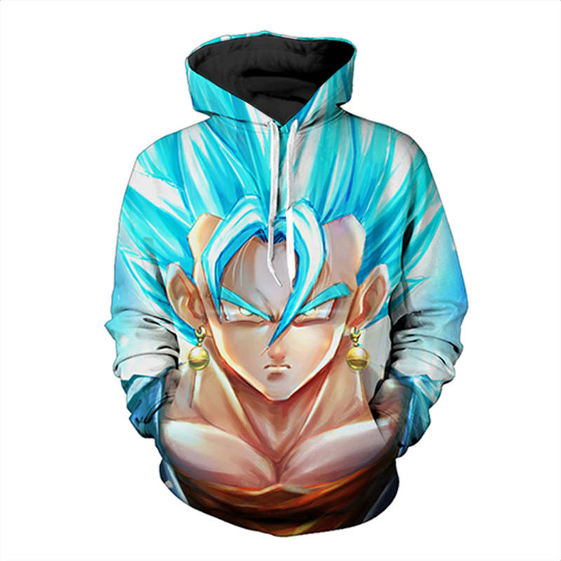 2017 Dragon Ball Z Hoodies 3d Hoodies Pullovers Sportswear Hooded Sweatshirts Mens Sleeve Son Goku Hoode Dragon Ball Z US Size
