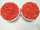 0# 1000pcs Orange-Red Colored Empty Capsule,Hard Gelatin Empty Capsule,Seperated Capsules size 0