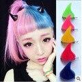 2017 2 pc/lote Japão pequeno demônio cabelo cartão fluorescente resina chifres hairpin hairpin styling acessórios para o cabelo de diagnóstico do carro-ferramenta