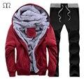 Conjunto Sportwear Hoodies Moletons Hip Hop Ocasional Inverno dos homens Masculinos Roupas Fatos De Treino Marca Sudaderas Hombre Sportswear Lazer