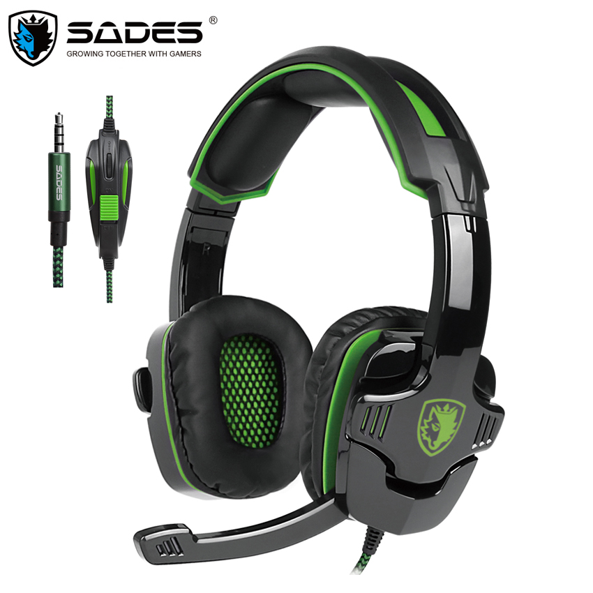 SADES SA930 PS4 Headphones 3.5mm Stereo Gaming Headset Gamer with Microphone Mic for Computer/Mac/Cell Phone/Tablet/New Xbox One sades sa 901 computer gaming headphones usb 7 1 surround stereo game earphone deep bass headset with microphone mic for pc gamer