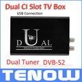 Armazém UE Grátis! TBS5990 DVB-S2 USB Duplo Sintonizador Duplo CI Caixa de TV para Assistir e Gravar TV Digital Via Satélite no PC