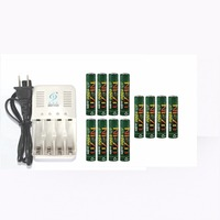 12Pcs 1000MWH NiZn 1 6V AAA Rechargeable Battery Batteries 4 Ports Ni Zn NiMH AA