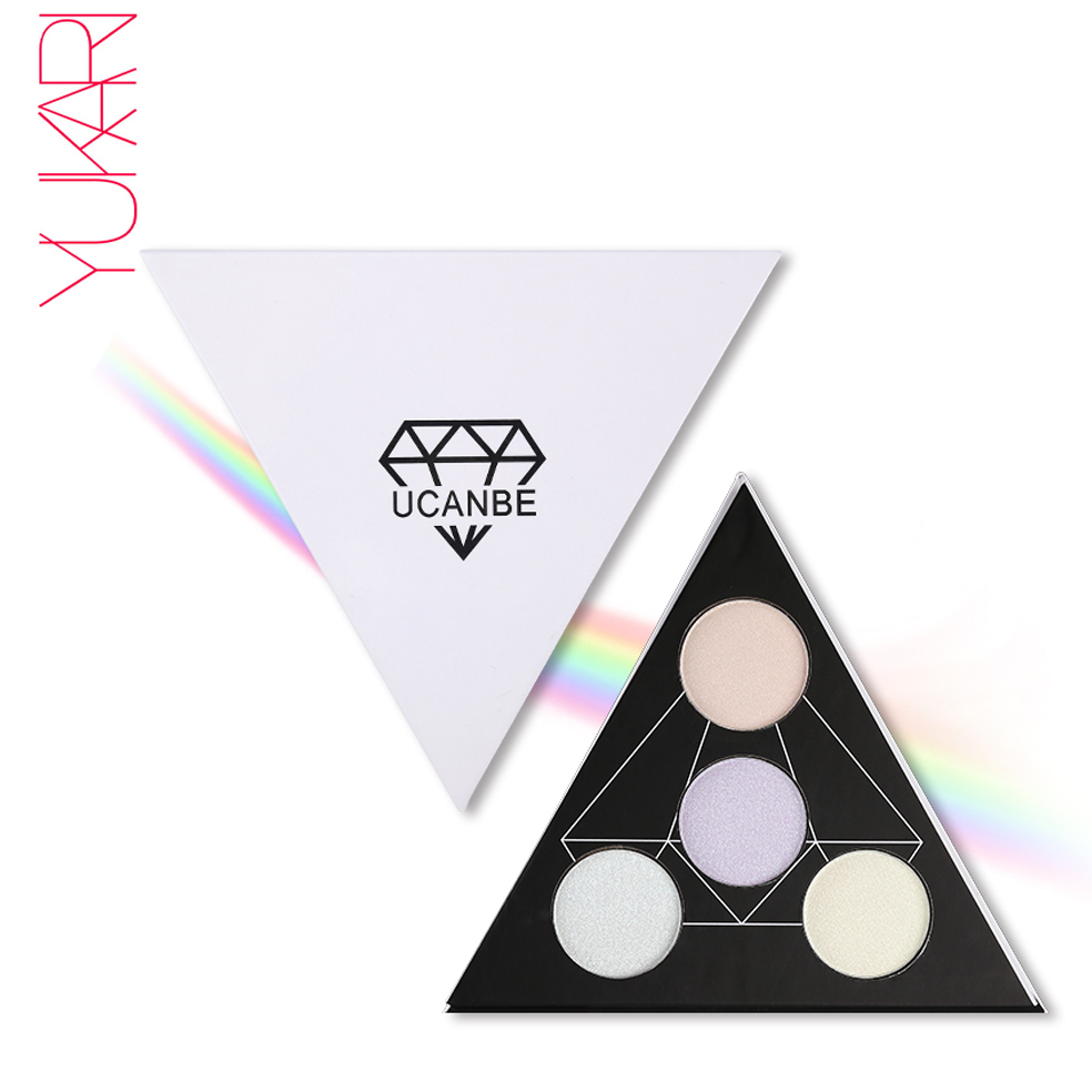 Triangle Glitter Eyeshadow Palette Holographic Shade Eye -2756