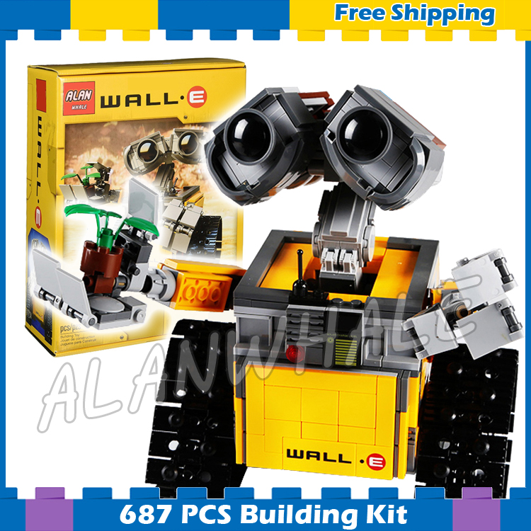 687pcs Ideas WALL E Robots Rolling Tracks Movie 16003 Model Building Blocks Assemble Kids Gifts sets Compatible With <font><b>Lego</b></font> image