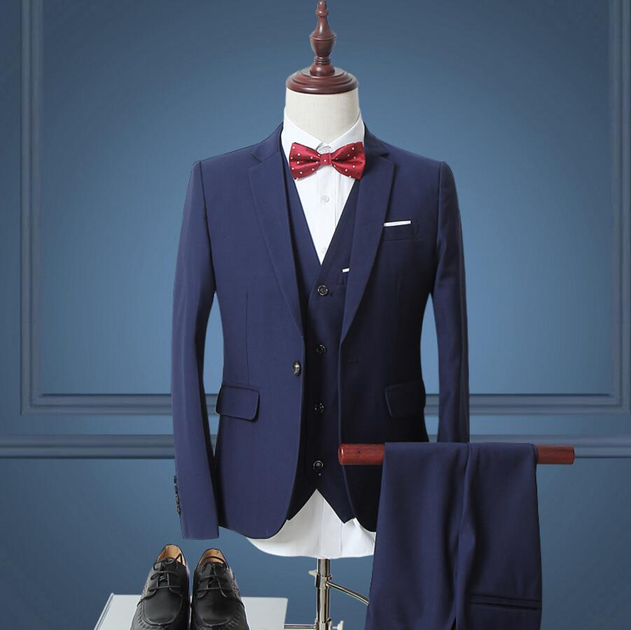 Online Shop New Men Suit Trend custom Suits Jacket Formal Dress Men ...