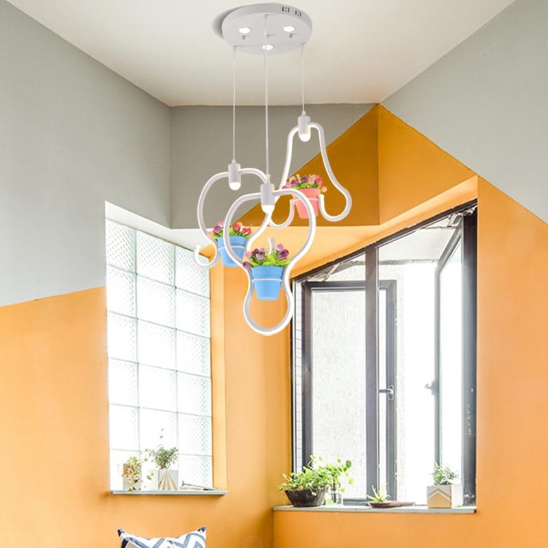 Princesse salle de soudage plafond moderne à LEDs lustre lumières enfants chambre d'enfant 85-265 V moderne led lustre luminaire livraison gratuite