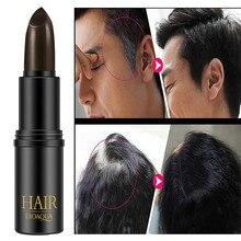 1 шт черные окрашенные волосы ручка Новое временное Косметическое покрытие ваши серые белые волосы подправить черный коричневый цвет волос ручка