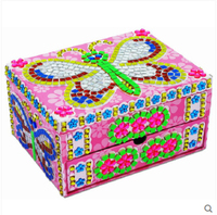 DIY Jewelry Box Sticky Mosaics For Children Handmade Toy Two Styles For Your Choice