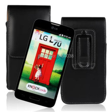 Hot Sale Mobile Phone Protective Pouch Flip PU Leather Cover Case For LG L70(Series III L70) with Belt Clip